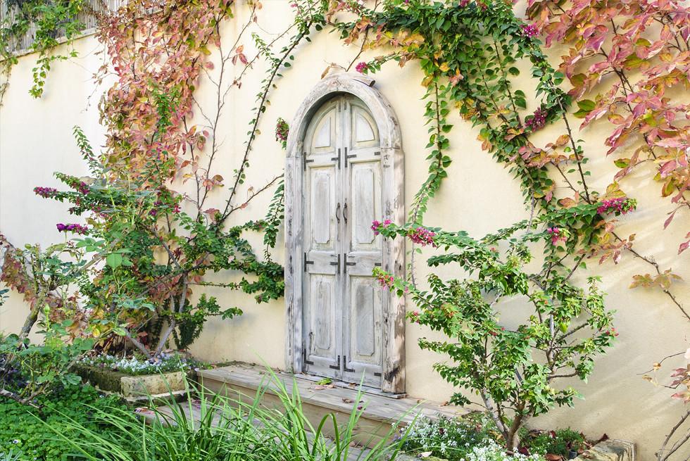אלמנט דקורטיבי על חומת הגינה, צילום: מושי גיטליס